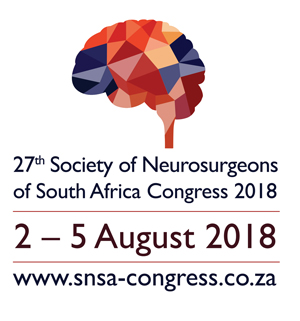 Society of Neurosurgeons SA Congress  | 2 – 5 Aug 2018 | Sun City | Northwest Province